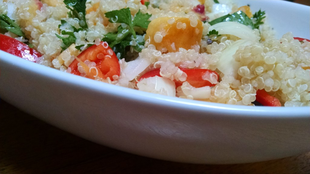 Peach Quinoa Salad